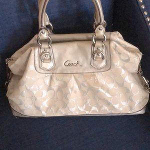 Coach Silver satchel/shoulder bag.